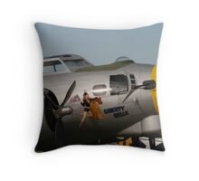 B17 Liberty Belle Throw Pillow