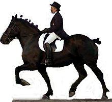 Draft Horse Under Saddle Portrait by Oldetimemercan