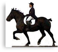 Draft Horse Under Saddle Portrait Canvas Print