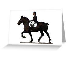 Draft Horse Under Saddle Portrait Greeting Card