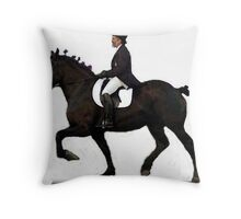 Draft Horse Under Saddle Portrait Throw Pillow