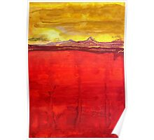 Mojave Dawn original painting Poster