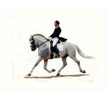 Dressage Horse Study Portrait Art Print