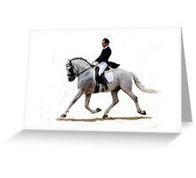 Dressage Horse Study Portrait Greeting Card