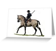 Memories Of The Past Lusitano Horse Portrait Greeting Card