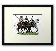 The Conquestadors Lusitano Horse Portrait Framed Print