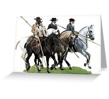 The Conquestadors Lusitano Horse Portrait Greeting Card