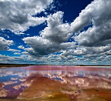 Meningie Pink Lake by Victor Pugatschew