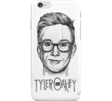 Tyler Oakley Line Art iPhone Case/Skin