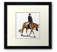 Palomino Quarter Horse Hunter Under Saddle Horse Portrait Framed Print