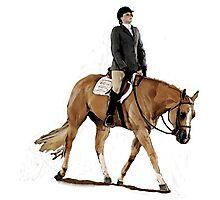 Palomino Quarter Horse Hunter Under Saddle Horse Portrait Photographic Print