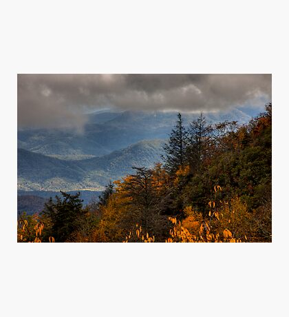 Mountains and Fog Photographic Print