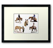 Palomino Quarter Horse Versatility Portrait Framed Print