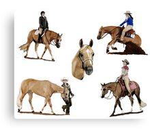 Palomino Quarter Horse Versatility Portrait Canvas Print