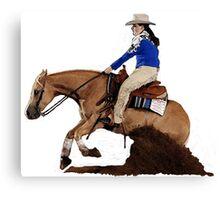 Palomino Quarter Horse Reining Horse Portrait Canvas Print