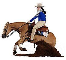 Palomino Quarter Horse Reining Horse Portrait Photographic Print