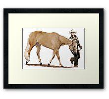 Palomino Quarter Horse Showmanship Portrait Framed Print