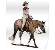 Palomino Quarter Horse Western Pleasure Portrait Poster