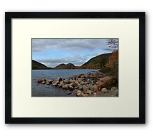'The Bubbles, From Jordan Pond' Framed Print