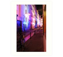 Latin Quarter at Night Art Print