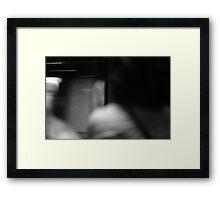 Monochrome Blur Framed Print