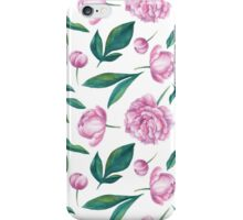 Watercolor Peony Pattern iPhone Case/Skin