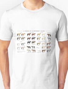 Horse Colors Poster Unisex T-Shirt