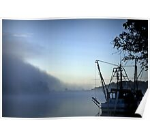 Misty Morning on the Clarence River Poster