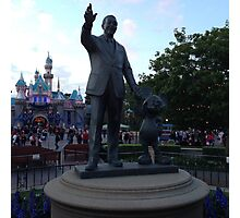 Walt Disney Statue Photographic Print