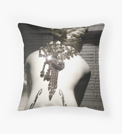 Cue the Glimmering Diamonds Throw Pillow