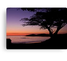 Sunset in Carmel-by-the-Sea  Canvas Print