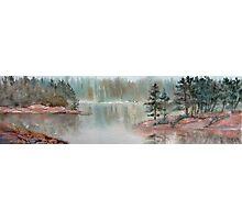 Misty Morn on Georgian Bay  (Ontario, Canada) Photographic Print