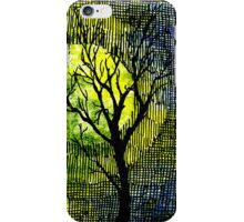 Winter Trees Yellow Green Watercolors iPhone Case/Skin