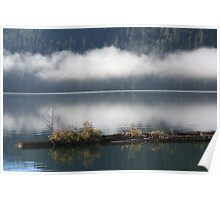 low clouds across the lake Poster