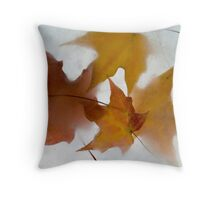 Frozen Leaves II Throw Pillow
