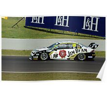 18, Jim Beam Car, Luff and Webb Poster