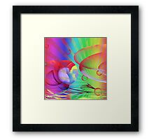 Be Happy -  Abstract35 Art + Products Design  Framed Print