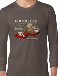 Chocolate - Thursday is any chocolate day Long Sleeve T-Shirt