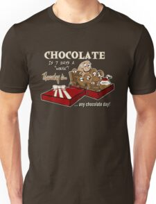 Chocolate - Thursday is any chocolate day Unisex T-Shirt