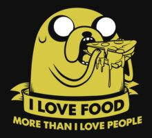 I love food more than I love people Kids Clothes