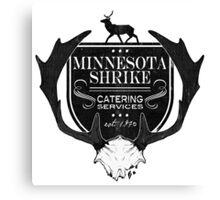 Minnesota Shrike Catering Canvas Print