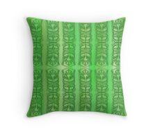 Tiki -Tok green Throw Pillow