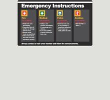 Subway Emergency Instructions Unisex T-Shirt