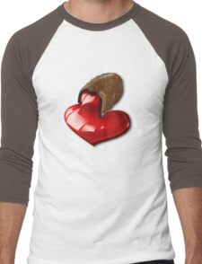 Chocolate - I Love You Men's Baseball ¾ T-Shirt