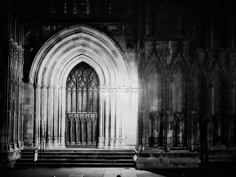 Man's light for the closed door of belief by clickinhistory