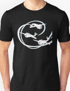 Aerobatic planes   White Vapor trails T-Shirt
