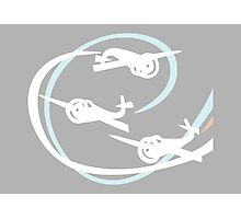 Aerobatic planes | White Vapor trails Photographic Print