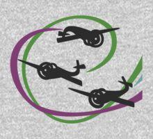Aerobatic planes | Vivid Vapor trails Kids Tee