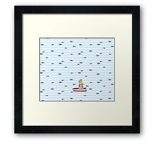 Salty sailor cat. Framed Print
