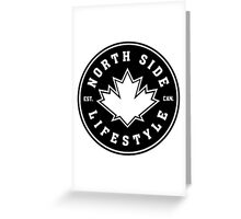 NSL Canada Black Leaf Crest Greeting Card